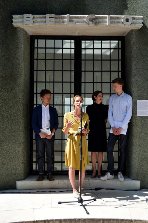 Intérieurs. Notes et figures, équipe curatoriale © D. Renard