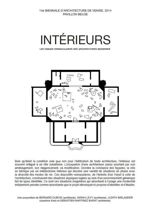 Intérieurs. Notes et figures, proposition initiale