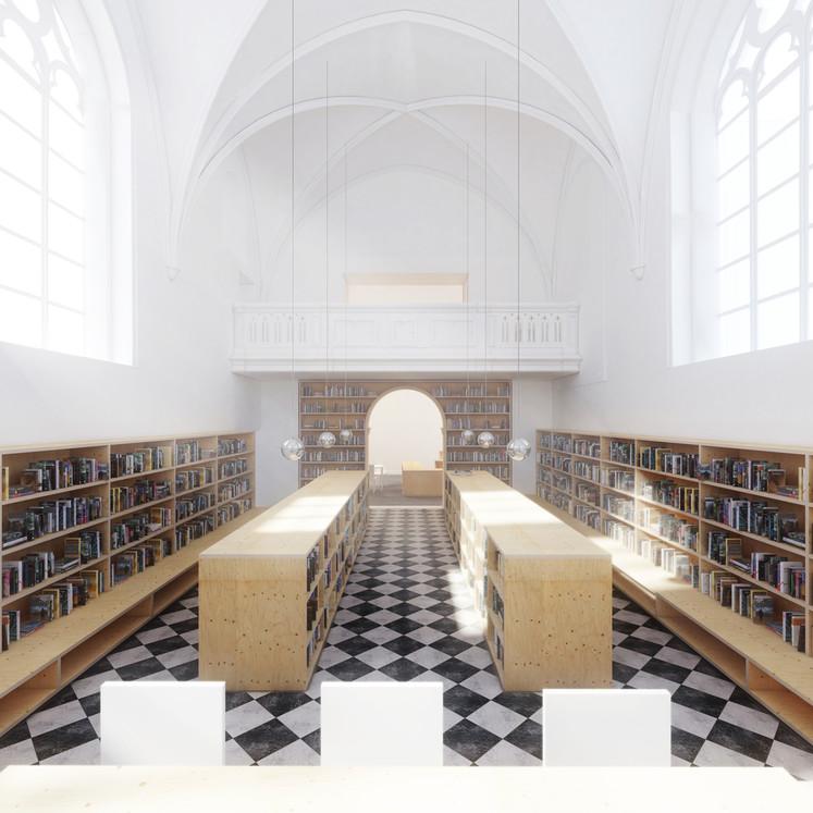 VERS.A | Chapelle de l'Hospice. Bibliothèque