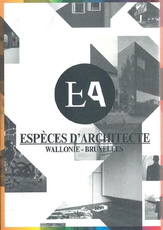 Espèces d'Architecte / Wallonie-Bruxelles