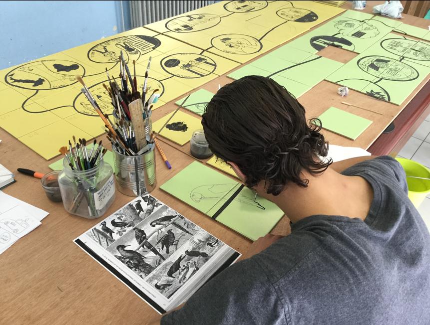 Atelier sur la Déclaration des Droits de l'Homme avec les jeunes du Centre fermé (Phase 1 du projet) © Françoise Schein