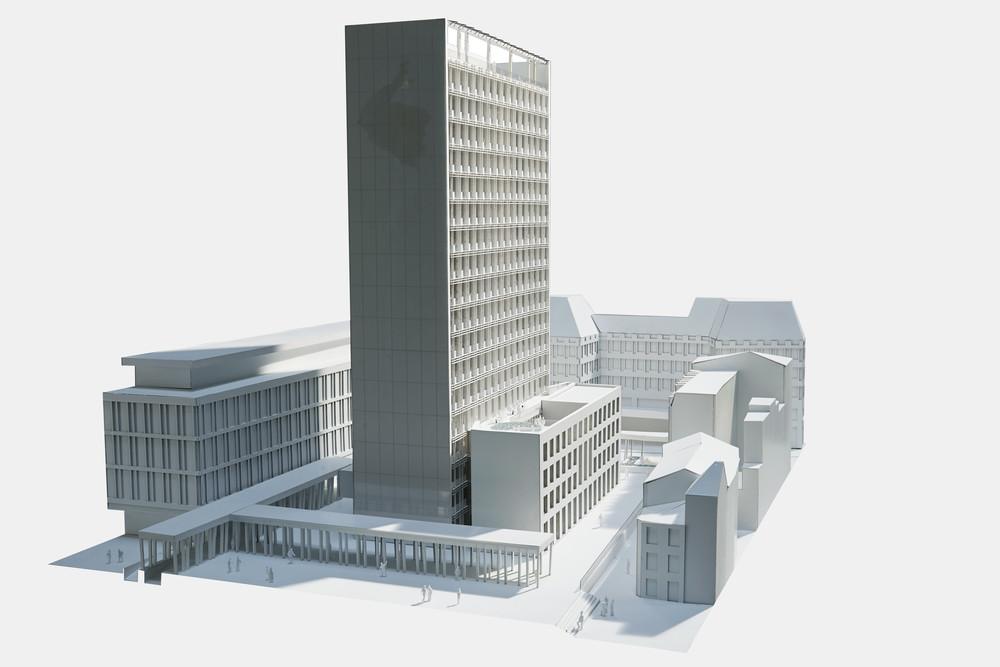 Rénovation et extension de la Cité administrative © Alain Janssens / AM De Wael - Gilion - Baumans-Deffet - Canevas - Imtech