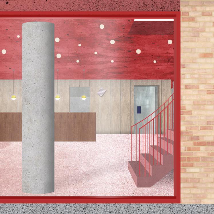ACROSS : Ouest à Anvers © Ouest architecture / Théâtre Jean Vilar (accueil), LLN, en cours
