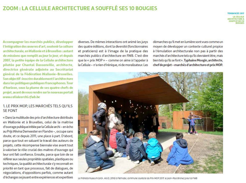 La Cellule architecture dans Focus Culture