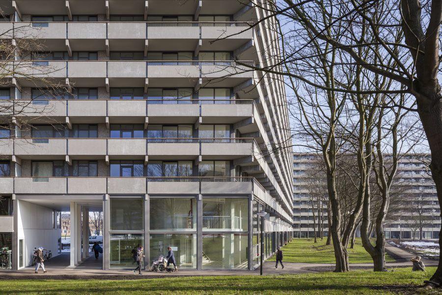 Conférence des politiques architecturales © Stijn Brakkee / DeFlat Kleiburg (rénovation), XVW architectuur-NL Architects, Amsterdam