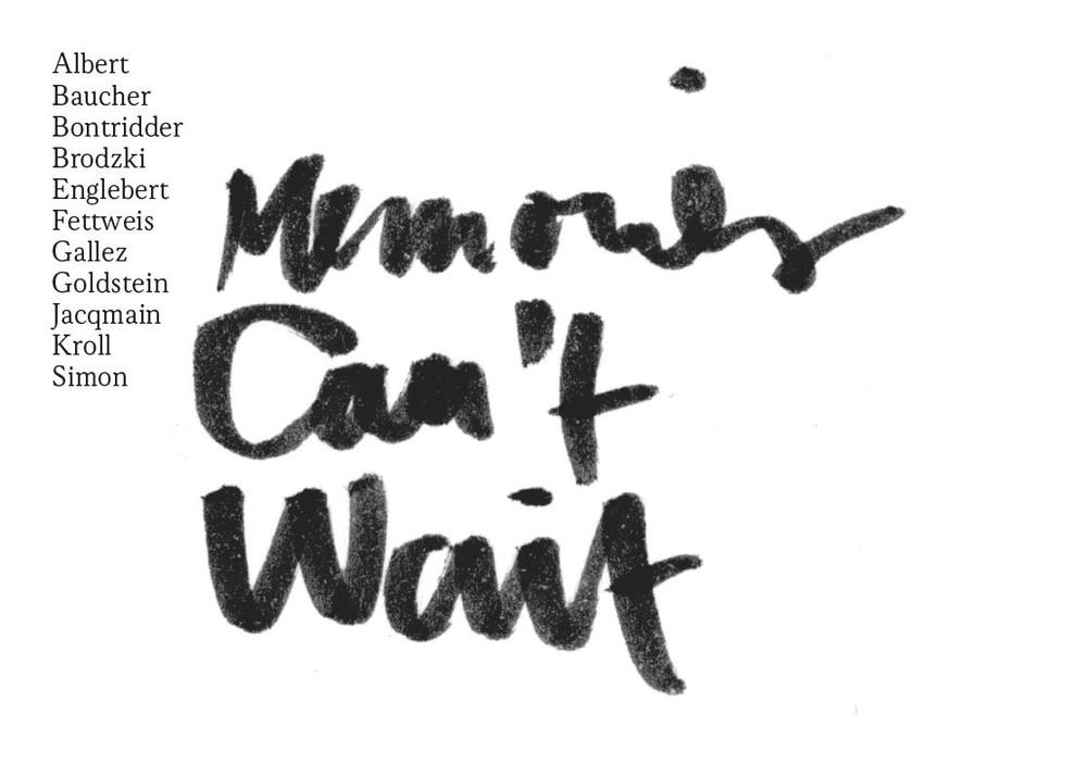 Sortie du livre Memories can't wait