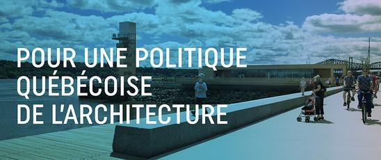 Stratégie gouvernementale en architecture © OAQ