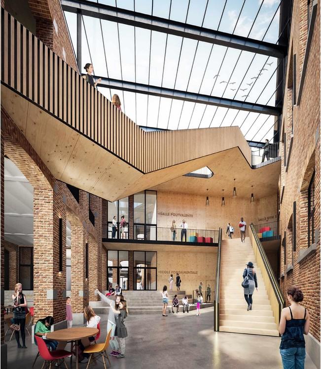 L'architecture scolaire : entre résistance, diversité et engagement © Urban Plateform-R2D2 / Pôle Rabelais, Ixelles, en cours