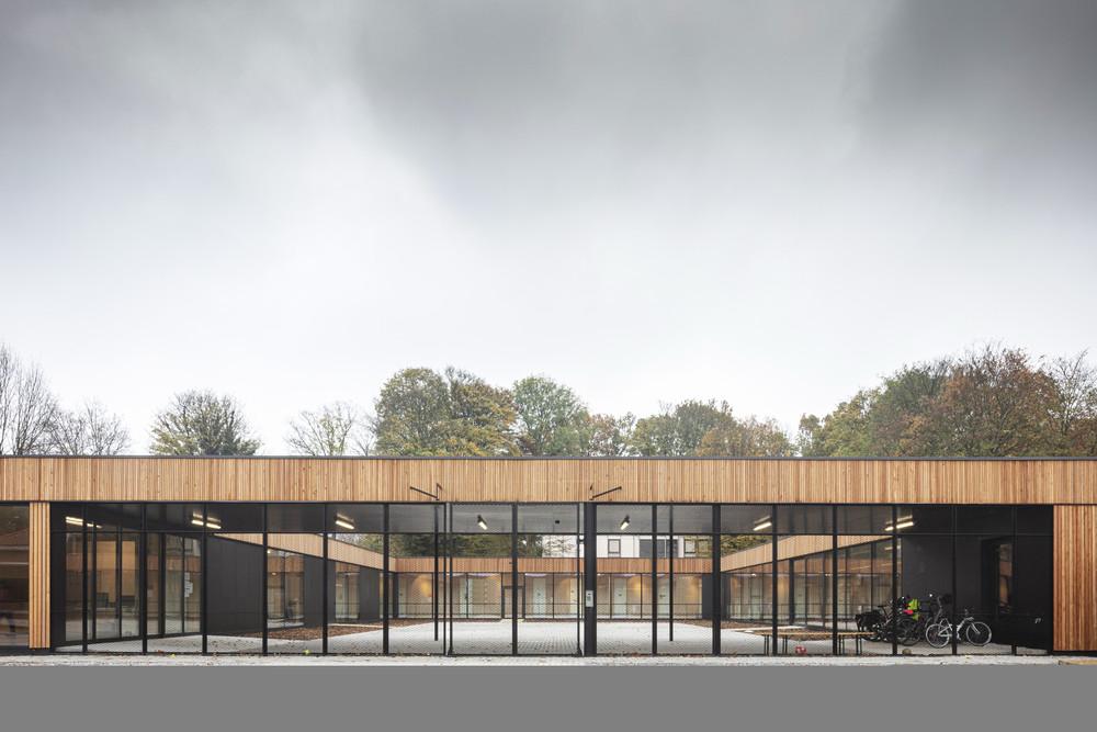 Archiurbain : école La Cime (A229 architectes) © Tim Van de Velde / Uccle, école Cime, A229