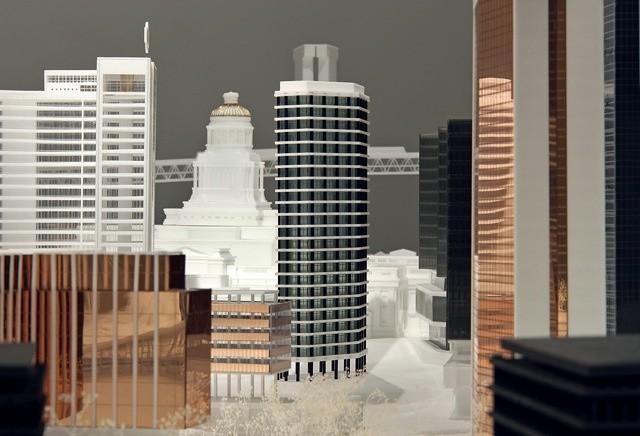 Ecoutez (Un)City © Maxime Delvaux / détail de la maquette (Un)City