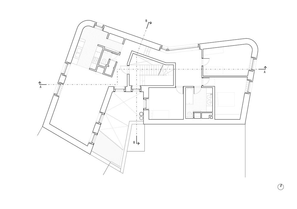 Logement Portaels-Navez, plan d'un logement