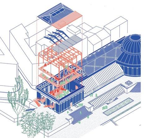Axonométrie Orangerie